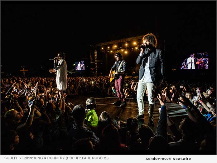 headlining performance by GRAMMY-award winning band for KING & COUNTRY; photo by Paul Rogers