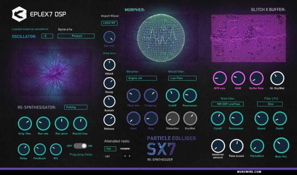 Eplex7 DSP announces Particle Collider SX7 VSTi