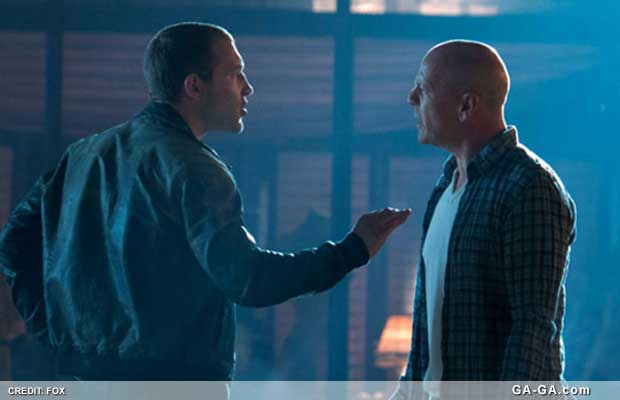 John McClane with son