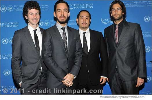 Linkin Park at UN - 2011 - credit: linkinpark.com