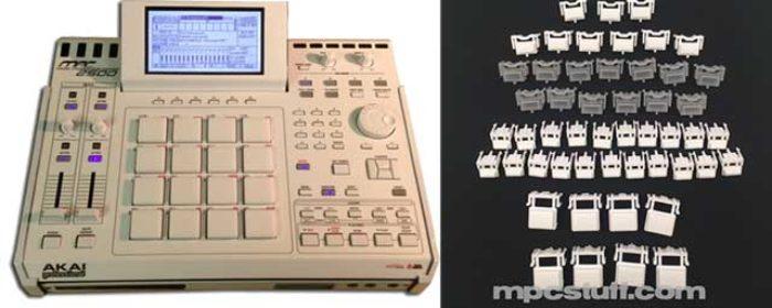 MPCstuff announces white-out kits to make your Akai MPC into a