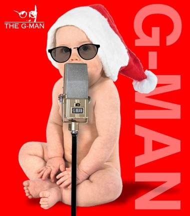 Awww, a little Santa G