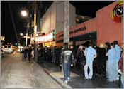 LA Music Awards line (the wrong line, for most of these folks)