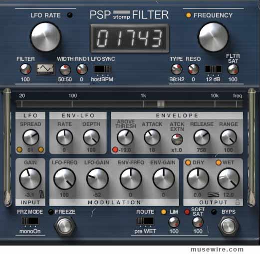 PSP stompFilter plugin