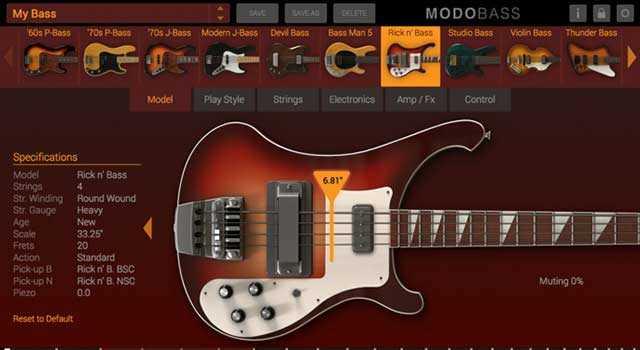 MODO Bass Virtual Instrument