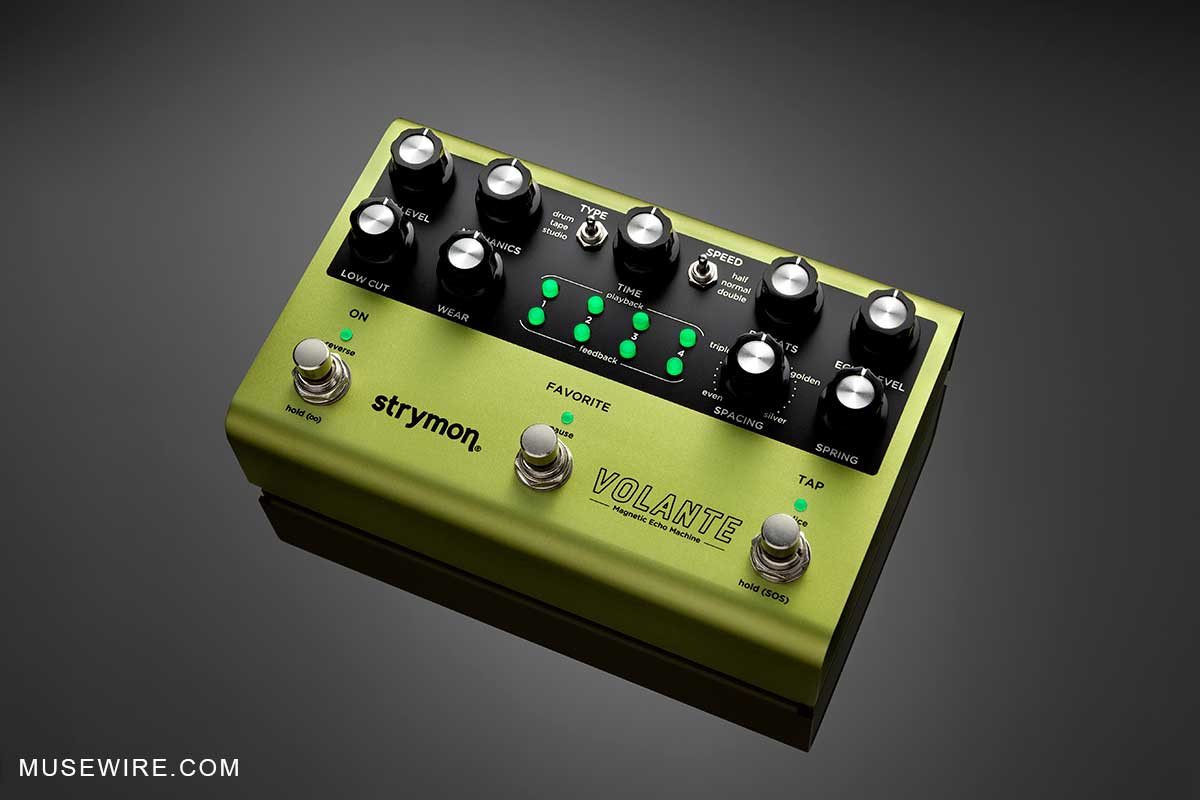 Strymon Volante pedal - top