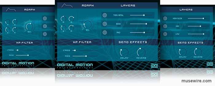GUI for UVI Digital Motion