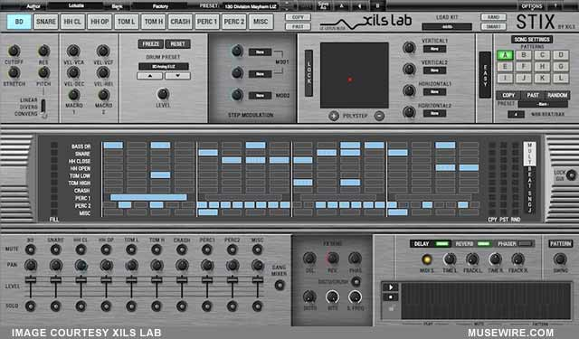xils announces stix a virtual analog and multisynthesis drum machine with nextgen xox sequencer. Black Bedroom Furniture Sets. Home Design Ideas