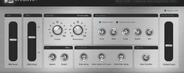 Mid-Side: Creative Stereo-Phase filter+