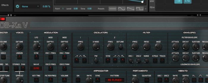 Upgraded OB-Xa V sound engine